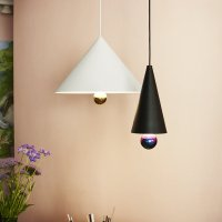 Buy Petite Friture Cherry Pendant Lamp - White/Gold | Amara