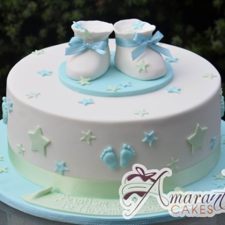 Round With Booties Cake - Amarantos Custom Made Cakes Melbourne