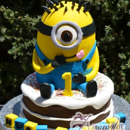 3D Minion on Base cake - NC371 - Birthday Cakes Melbourne
