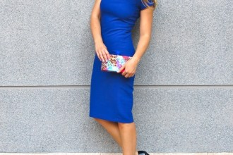 blue dress amaras la moda  chic sympathique clutch 3