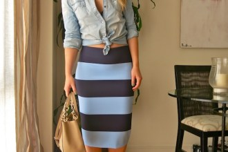 stripped skirt zara michael kors amaras la moda