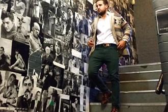 amaras la moda mano Pablo Méndez london green pants