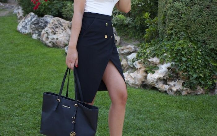 zara skirt white shirt amaras la moda paula fraile6
