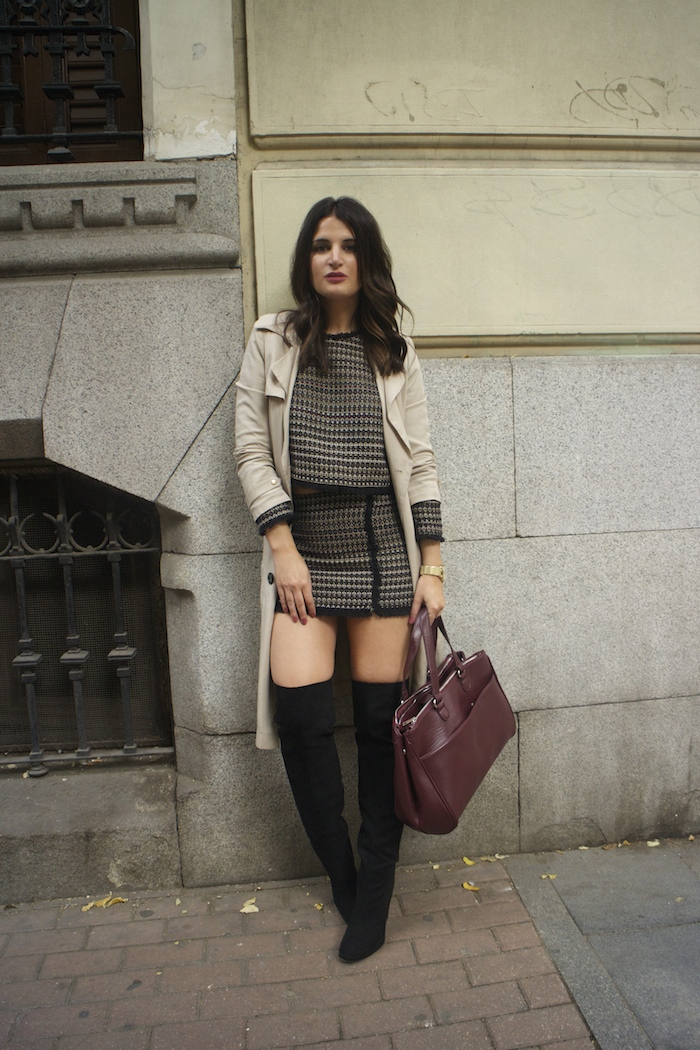 zara-top-and-skirt-over-the-knee-boots-justfab-la-redoute-bag-and-trench-amaras-la-moda-paula-fraile
