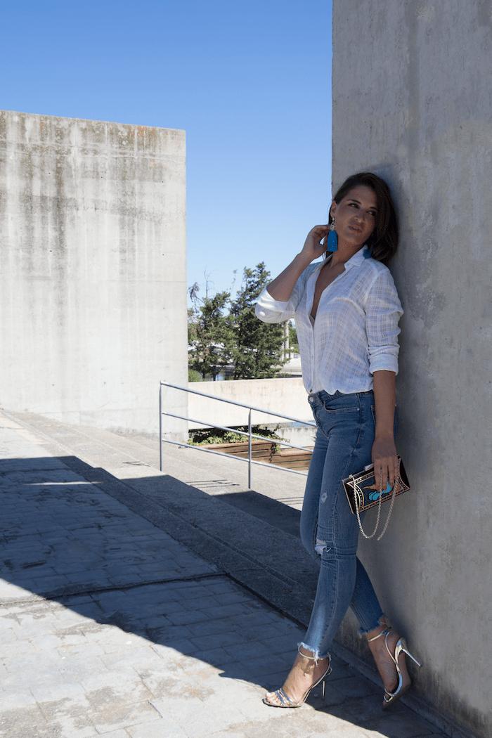 bolso danielle nicole jeans amaras la moda paula fraile camisa blanca9