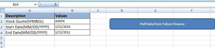 Auto import stock quotes from yahoo finance with excel vba - Amarindaz