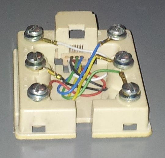 Putting a connector on ATT DSL Bonded Pair Modem input cable ⋆ A