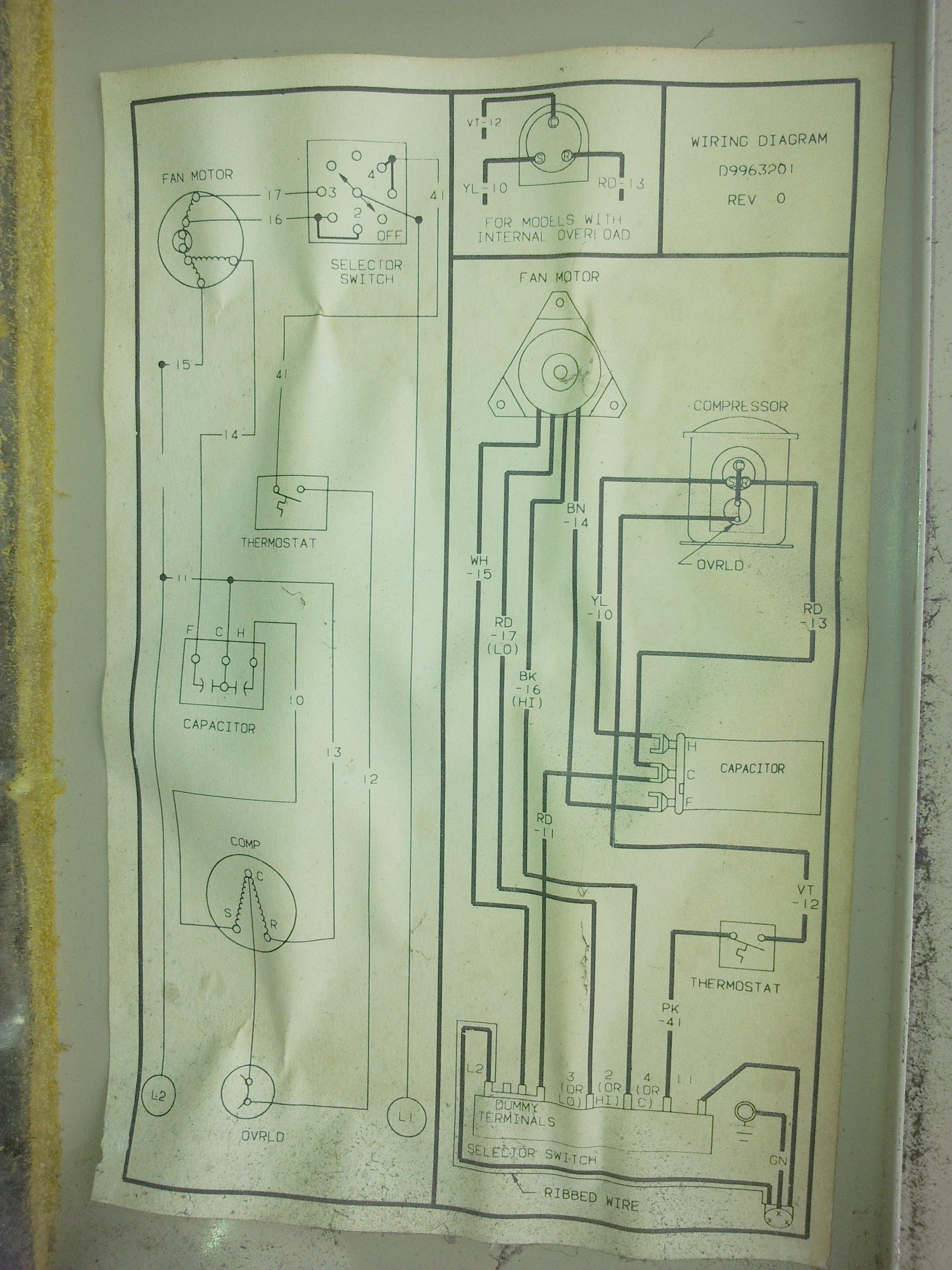 amana window wiring diagram