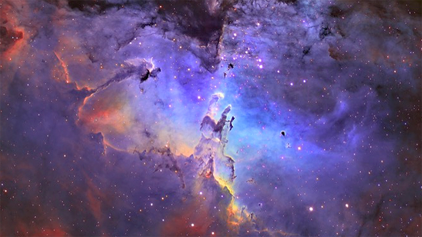 Cosmic Nebula Representing the Creation of the Universe