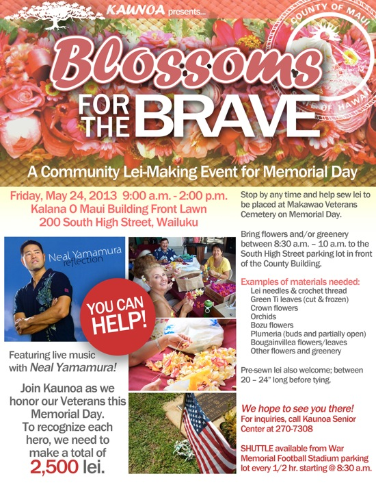 Blossoms for the Brave 2013