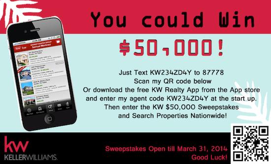 Win 50,000 via Keller Williams Sweepstakes