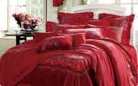 Creative ideas for Valentine's day bedding curtains