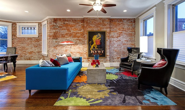 Exceptional Living Room Design Ideas With Brick Wall Accents   Urban Living  Room