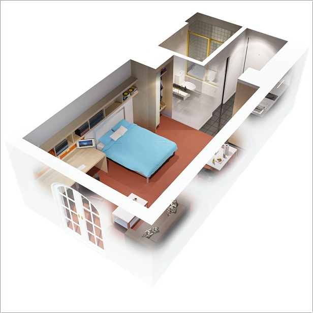 10 Ideas for One bedroom Apartment Floor Plans - one bedroom house plans