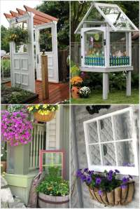 12+ Ideas to Recycle Old Doors and Windows for Garden Decor