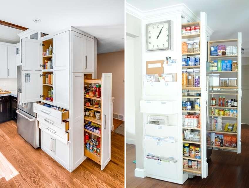 Kitchen Vertical Storage Kitchen Design Ideas