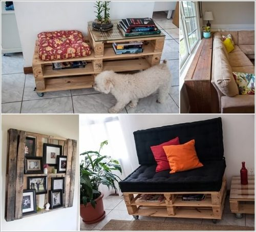 Make Furniture for Your Living Room with Pallets a