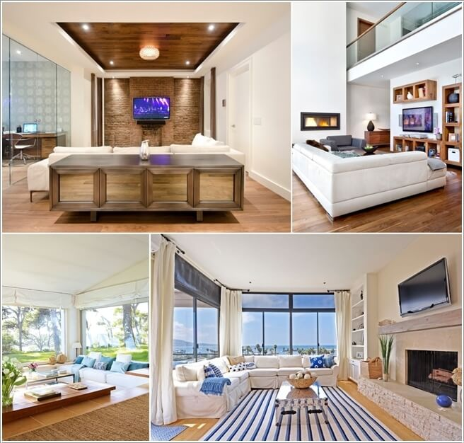 How to Decorate a Living Room with a White Sectional - white sectional living room