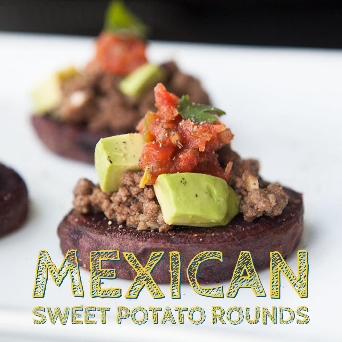 Mexican Sweet Potato Rounds - by AmazingPaleo.com