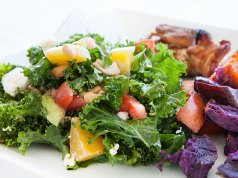 Kale and Golden Beets Salad with Blood Orange Vinaigrette