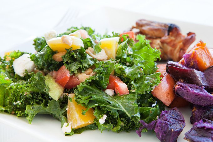 Kale and Golden Beets Salad with Blood Orange Vinaigrette