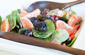 Summer Salad with Strawberry Vinaigrette