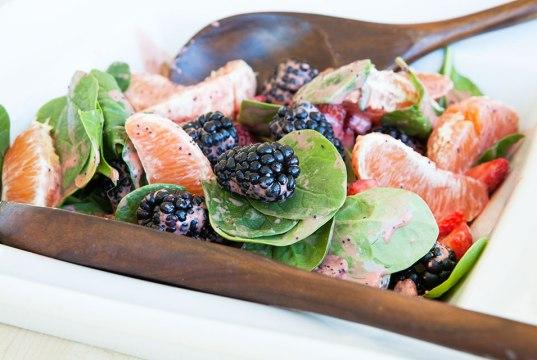 Summer Salad with Strawberry Vinaigrette