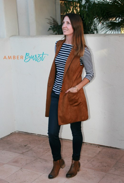 Lemon Tart brown faux suede vest
