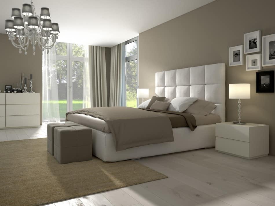 Chambre à coucher aux couleurs naturelles
