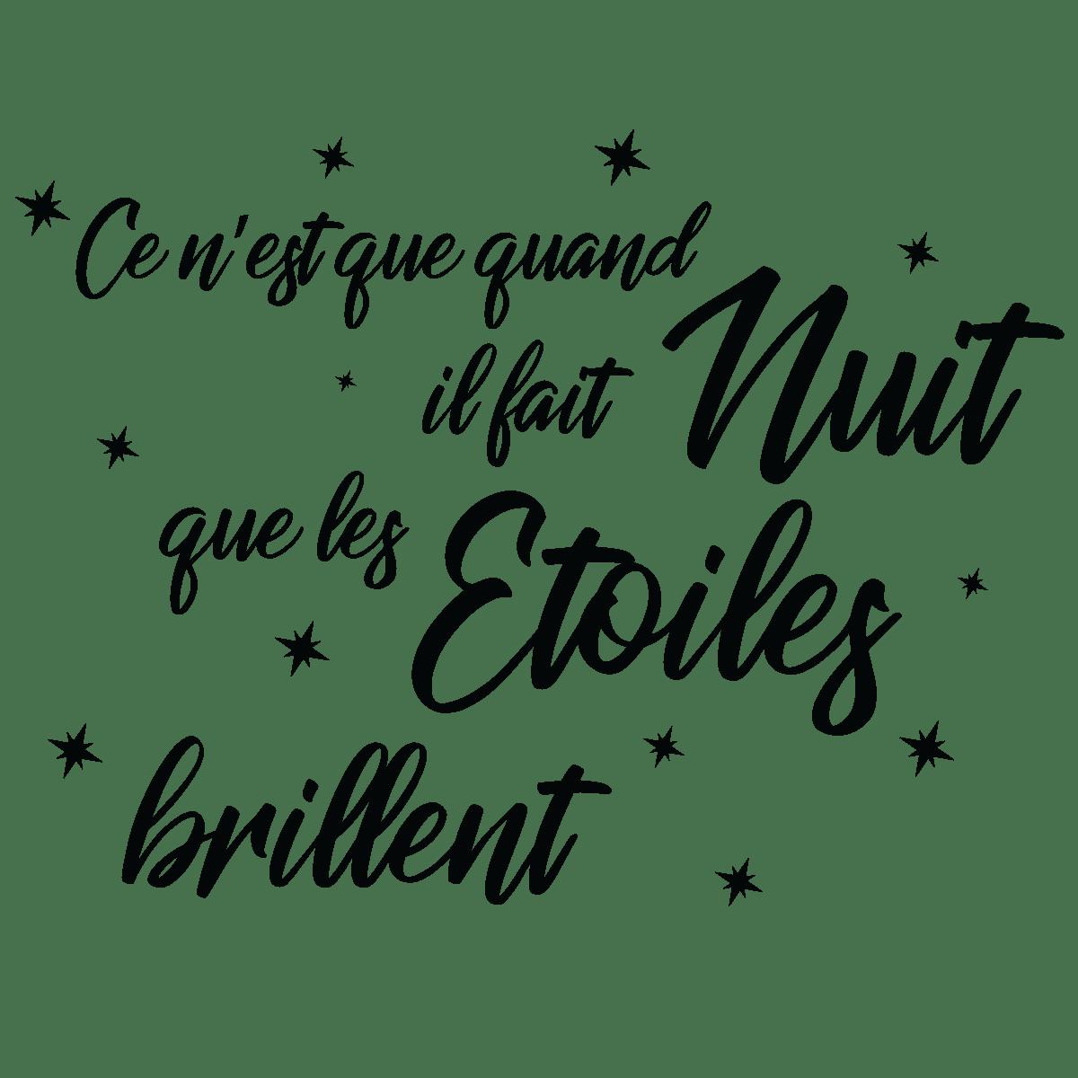 Lit Quotes Wallpaper Sticker Citation Ce N Est Que Quand Il Fait Nuit