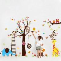 Sticker gant pour enfant - arbre, singe, girafe et ...