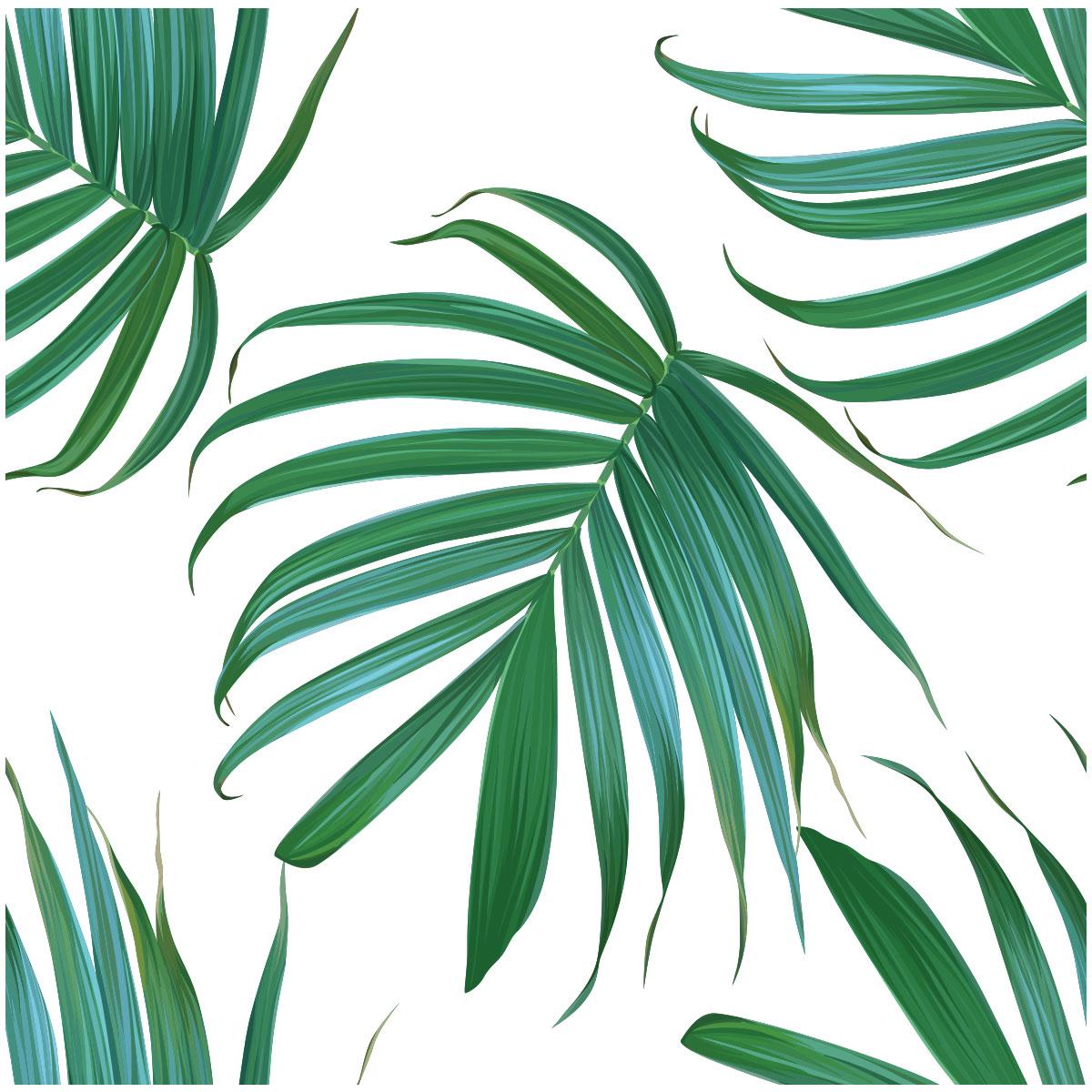 Iphone X Frame Wallpaper Sticker Tapisserie Tropicale Feuilles De Palmiers Nature