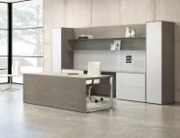 Contemporary Grey Wood Desk - Ambience Dor