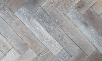 100mm Brushed & Oiled Engineered Coal Grey Oak Parquet B