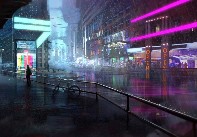 Rain Wallpaper Anime Calm Night At The Neon Cafe Cyberpunk Audio Atmosphere