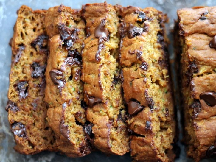 Paleo Low-Fat Pumpkin Chocolate Chip Bread