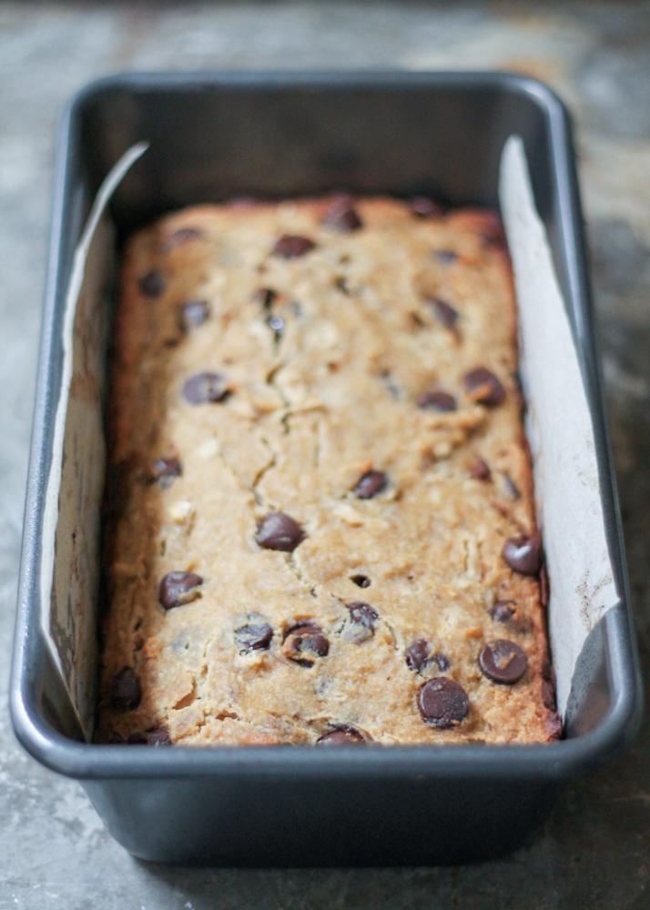 Paleo Gluten-Free Moist Choc Chip Banana Bread