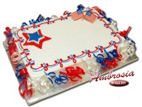 4th of July Sheet Cake