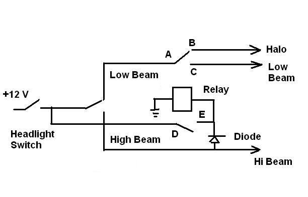 12 volt relay with diode