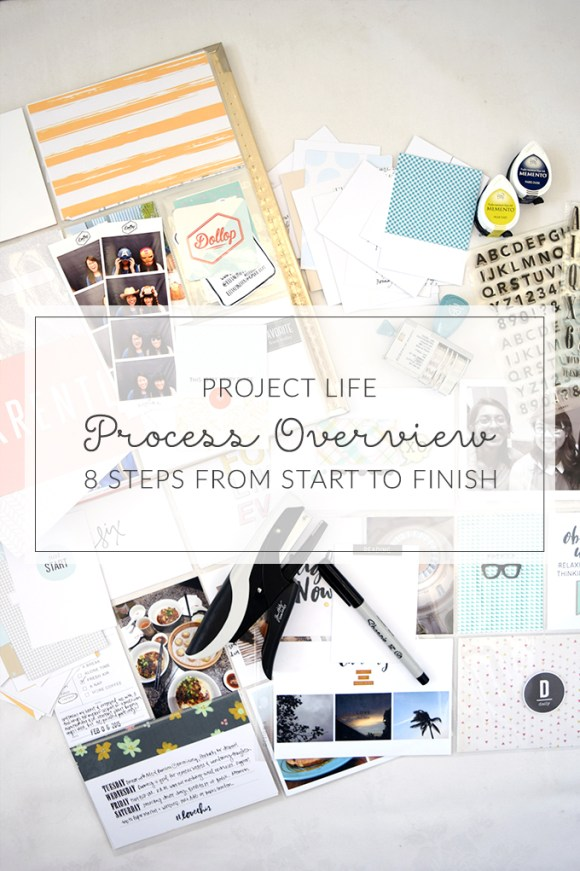 8 steps to complete your Project Life spread - the start to finish process
