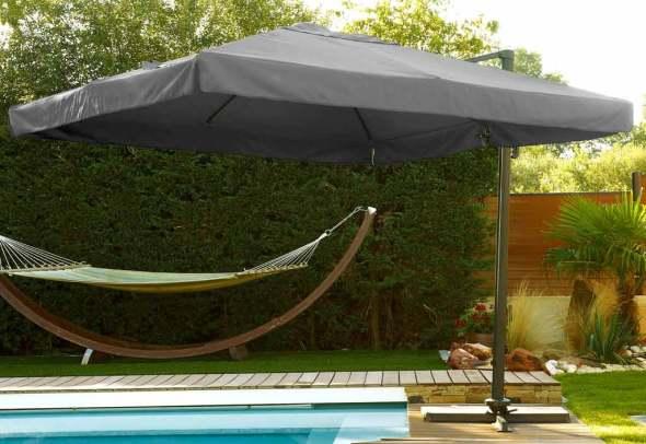Parasol Déporté Carré Protection Soleil
