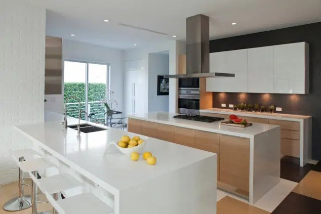 Cuisine Blanche Et Bois Design