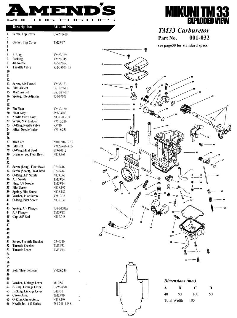 tillotson carburetor parts