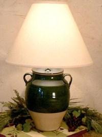 "13""Avignon Glazed Jar Lamp"