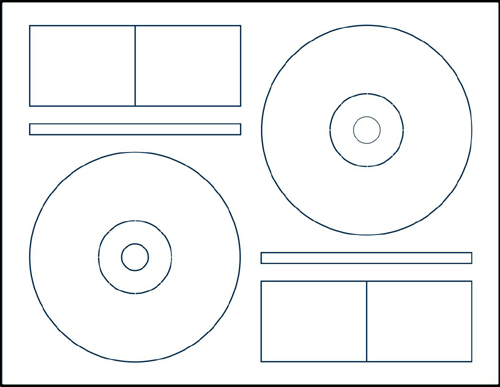 Klone 60000C 2-UP CD Label Sheets for Memorex from American-Digital