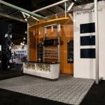 trade show exhibit with sustainable carpet tile flooring