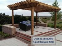 Creating a Beautiful Small Backyard Patio using Pavers ...