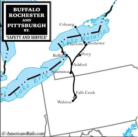 wwwamerican-rails images buffalo-rochester-and-pittsburgh-map - blank road map