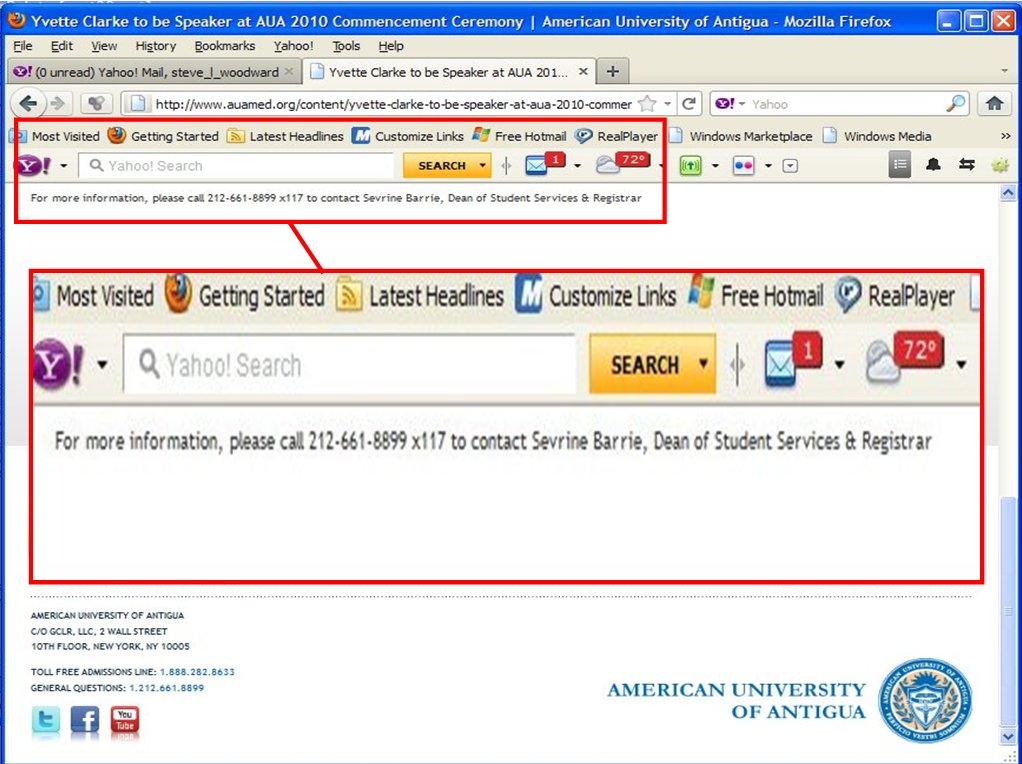American University of Antigua lies on Sallie Mae student loan documents
