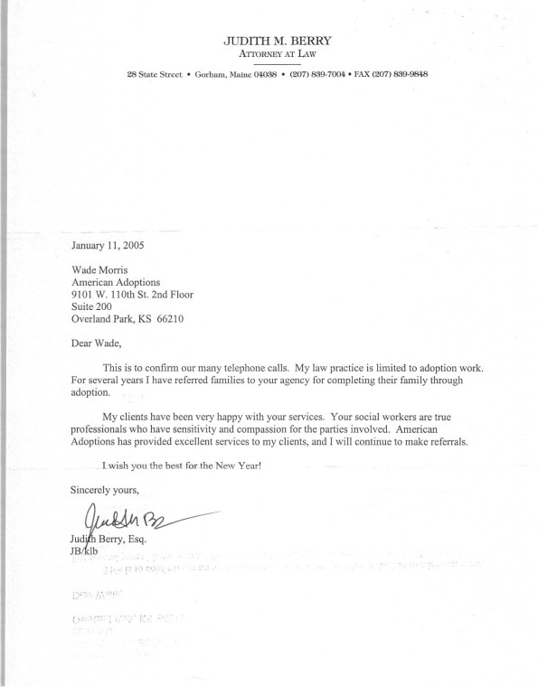 letter of recommendation for adoption agency